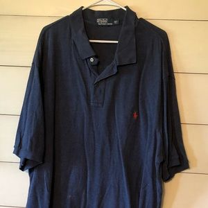 3XLT RL polo, always hung to dry- knit